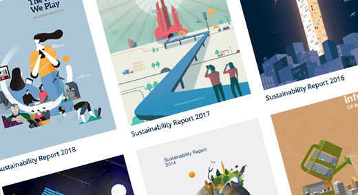 click to see historic sustainability reports and the current report